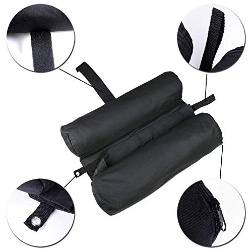 PUJING Weight Sand Bags Gazebo Tent Leg Weighted Canopy Foot For Outdoor Sun Shelter-Black