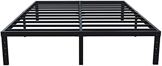 ZIYOO 14 Inches Heavy Duty Metal Bed Frame,Premium Bed Mattress Foundation,Noise Free&Anti-Slip Sturdy Iron Bed Platform,Black Platform Bed No Box Springs Needed, 1200lbs Weight Capacity Limited(Full)