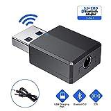 USB 5.0 Bluetooth Adaptateur,Bluetooth Dongle 2 en 1 Transmetteur & Récepteur Audio...