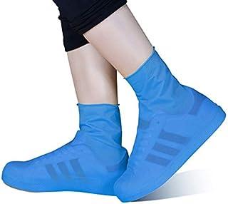 Reutilizables ZXXY Cubiertas de Zapatos de Franela Antideslizantes 5 Pares,Brown Cubiertas a Prueba de Agua para Interiores hogar y Lugar de Trabajo Lavables
