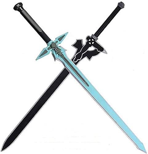 YPCWM Sword Art Online COS Arma Kirito, Espada de Entrenamiento de Samurai Katana de Madera, Accesorios de Espada samurái Hechos a Mano Cosplay Samurai decoración Espada de Juguete