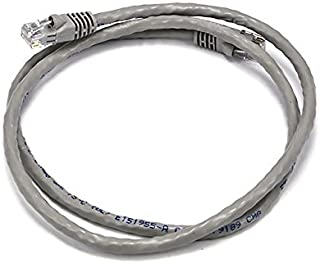 Monoprice3FT 24AWG Cat6 500MHz Crossover Bare Copper Ethernet Network Cable - Gray 102375