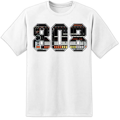 Tr808 Music Sampler T Shirt DJ Pioneer Cdj 2000 Nxs Djm Akai 808 Men...
