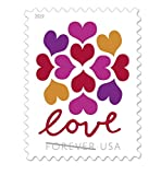 USPS Hearts Blossom Love Forever Stamps - Wedding, Celebration, Graduation (10 Sheets, 200 Stamps) 2019