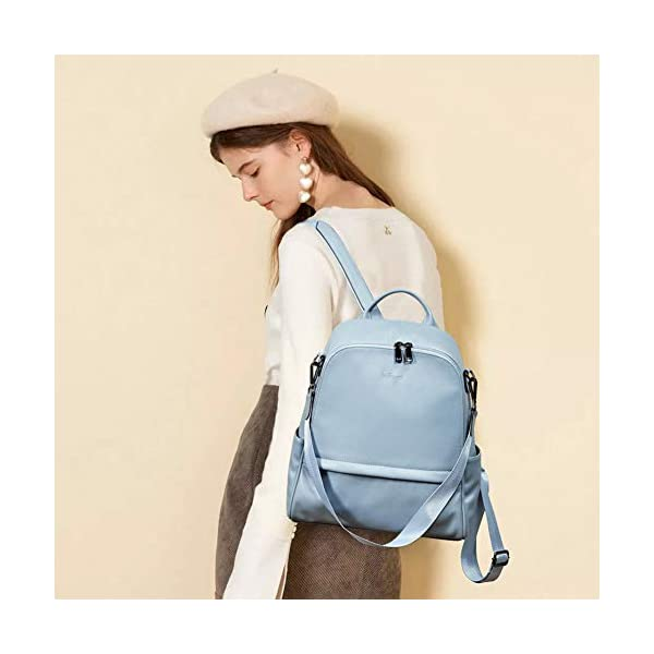 BROMEN Backpack Purse for Women Leather Anti-theft Travel Backpack Fashion College Shoulder Handbag 2