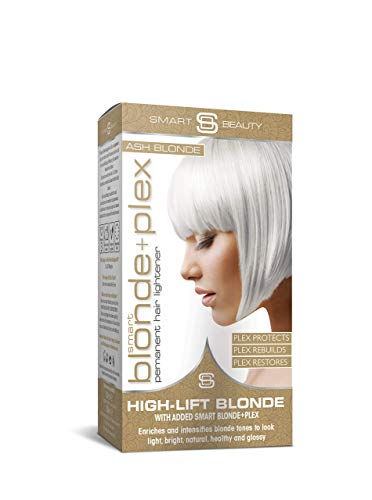 Smart Beauty | Ash Blonde Hair Dye Permanent Hair Color | Smart Plex Hair Bleach Kit Protects and Strengthens Hair | Lightener and Toner for Hair Natural or Colored | Vegan | Cruelty Free