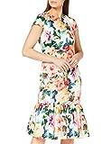 Gina Bacconi Women's Seanna Floral Scuba Dress Vestido de cctel, Amapola Roja,...