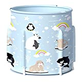 Youbeny Portable Foldable Bathtub for Children, 23.6in 7-Layer Thickened PVC SPA Freestanding Bathtub to Keep Warm for Longer, Round Soaking Standing Bath Tub for Bathroom Shower Stall
