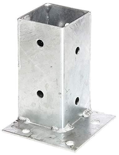 GAH-Alberts 211714 Ancre sur platine   pour la fixation dans les angles   galvanisée à chaud   71 x 71 mm