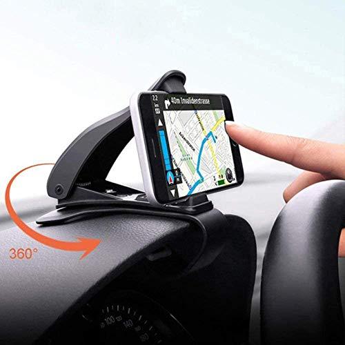 NOVHOME Soporte para teléfono para automóvil, Soporte para teléfono para automóvil para teléfono móvil Universal Mini Tablero de Instrumentos Soporte de navegación GPS Soporte Soporte para
