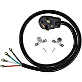 Certified Appliance Accessories 30-Amp Appliance Power Cord, 4 Prong Dryer Cord, 4 Color Coded Wires with...