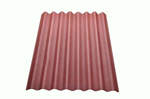 Onduline Easyline Dachplatte Wandplatte Trapezblech Wellplatte 1x0,76m - rot