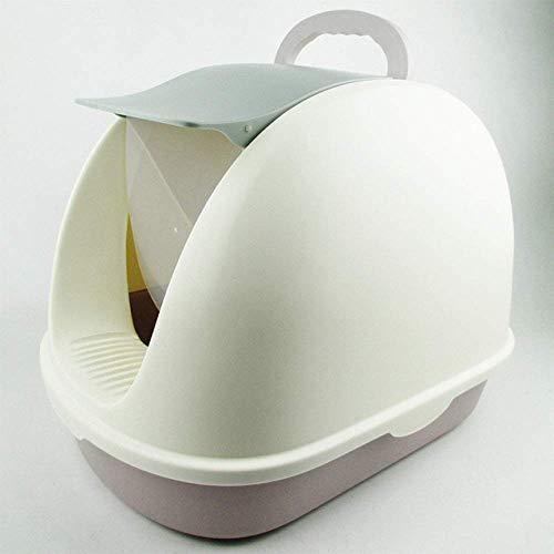 MLOZS Desodorante para gatos de plástico extra grande, antisalpicaduras, cuenca de arena para gatos totalmente cerrada, 1, M (color: 1, tamaño: M)