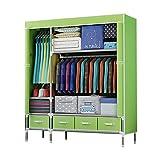 ZZYE Armario de tela Armarios portátiles para colgar ropa, ropa de armario Organizador de almacenamiento de armario a prueba...