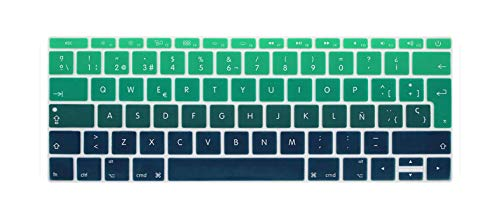 Spanish EU Silicone Keyboard Protector Cover Skin Protective Film For Mac Book 12 inch pro13 Colorful keyboard film Spain-O-