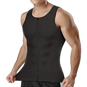 CtriLady 加圧シャツ メンズインナー 機能性インナーシャツ ランニングウェア スポーツ トレーニング ウェア トレーニング 吸汗速乾 インナー 姿勢矯正 スポーツウェア タンクトップ メンズ お腹引き締め 補正シャツ 通気性抜群 黒 男性用 (黒, M)