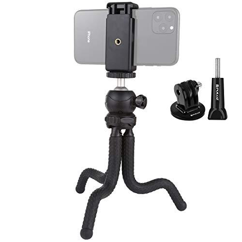 Adaptador de soporte de soporte de montaje Titular mini pulpo flexible del trípode con el adaptador de montaje de la cabeza y el teléfono de la bola de la abrazadera Trípode y tornillo largo for Cámar