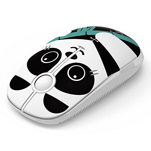 Ratón Inalámbrico, Jelly Comb Ratón Inalámbrico de 2,4 GHz para Ordenador Portátil/Tableta, Preciso y Silencioso (Panda)
