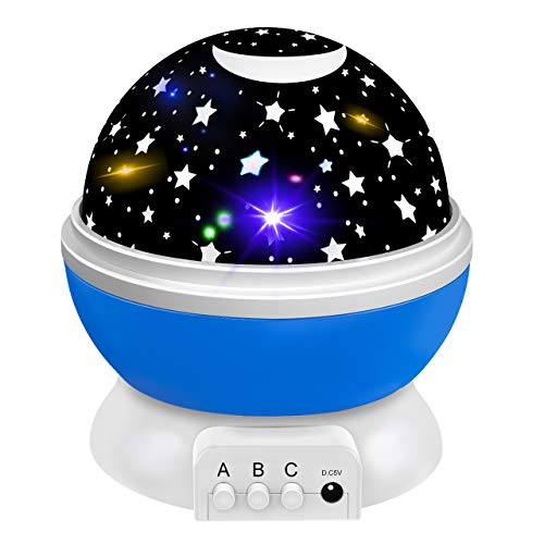 Girls Toys Age 2-10, Night Light Moon Star Rotating for Kids Baby Girls Toys for 3-10 Year Old Girls 2-10 Year Old Girl Gifts Birthday Best Christmas Xmas Halloween Gifts for Girls Pink DMUSNL03