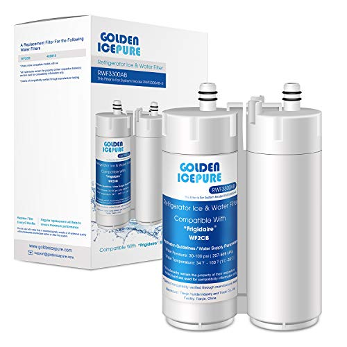 GOLDEN ICEPURE Refrigerator Water Filter Replacement for WF2CB, 1Pack, NGFC 2000, FC100, 469911, EWF2CBPA, FC300, 469916, 1004-42-FA, EWF01, EFF-6018A, EFF-6029A, MB-100, MBFC2003