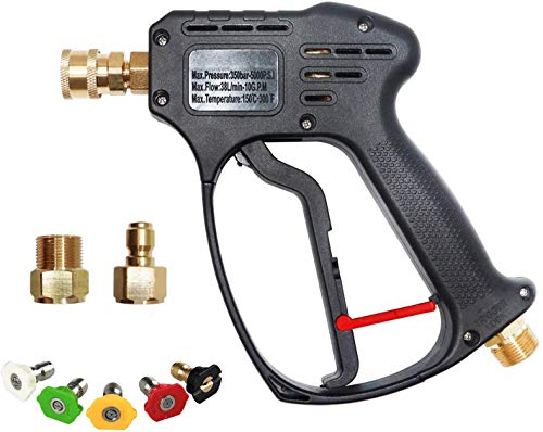 Product Image of the AgiiMan High Pressure Washer Gun - 5000 PSI Car Power Washer Gun kit, 5 Spray Nozzles 1/4'' Quick-Connect M22 Fitting Gas Power Washer