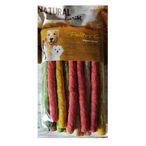 Snack Palitos Masticables Naturales Colores Surtidos para Perros Tasty SanDimas - Bolsa 25 uds (200 gr)
