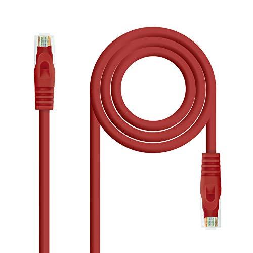 NanoCable 10.20.1803-R - Cable de Red Ethernet RJ45 LSZH Cat.6A UTP, AWG24,...
