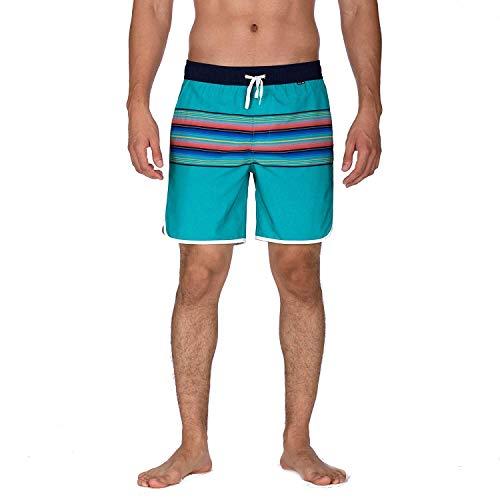Hurley Herren Boardshort M Phantom Baja Malibu Volley 17', Hyper Jade, L, BQ4137