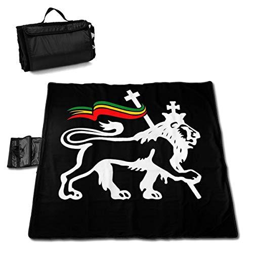 GuyIvan Strand Picknick Decke Rasta Lion Handy Matte Falttasche Musik Festivals Quick Dry Bag