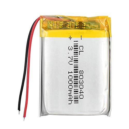 ndegdgswg Batería del PolíMero De Litio De La ión De Litio De 3.7v 1000mah 803040, Auriculares Mp4 Mp5 del Presidente De Bluetooth del Tablet Pc 1piece