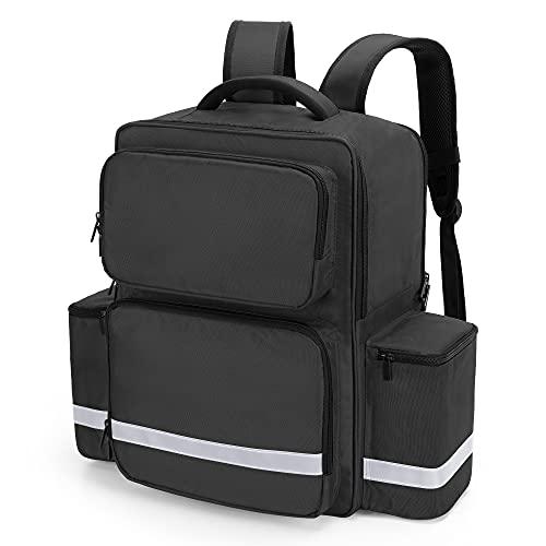 Trunab Emergency Medical Backpack Responder Trauma Bag for EMT, Home Care, Black