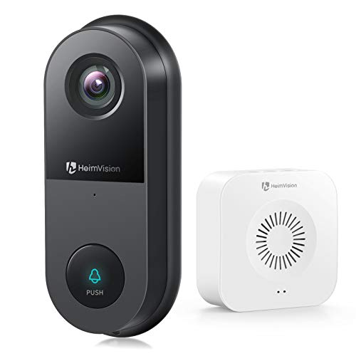 HeimVision 2K Video Doorbell, Wi-Fi Doorbell Camera with Chime, Motion Activated Alerts, 2-Way Audio, Enhanced Night Vision, 2-Storage Options, Weatherproof (Existing Doorbell Wiring Required)