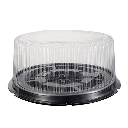 Hemoton Caja de Plástico Transparente para Tartas Caja de Regalo para Magdalenas Caja Portabebés Caja de Macaroon para Galletas Panaderia Baby Shower 10 en 5 Piezas