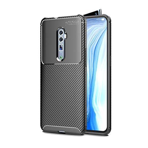 YANTAIAN Casos Protectores móviles por 8 Pro Carbon Fiber TPU Prueba de Golpes Textura Xiaomi redmi Nota (Color : Blue)