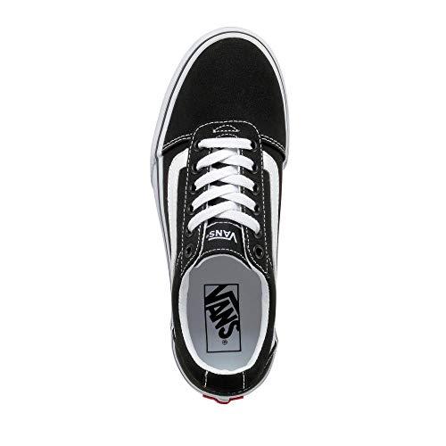 Vans Ward Platform, Sneaker Donna, Canvas Black/White 187, 37 EU
