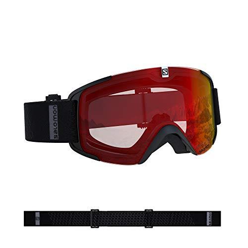 Salomon, Xview, Gafas de esquí unisex, Negro/Rojo (Universal Mid Red), L40844400