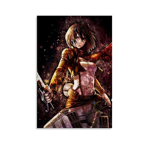 STTYE Poster artistico de Attack on Titan para decoracion del hogar, 50 x 75 cm