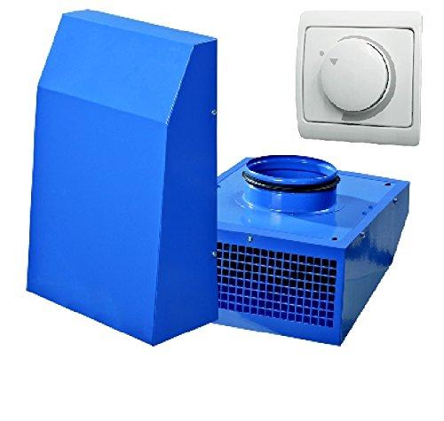 SET VENTS VCN 100 + Dimmer/Drehzahlregler/Außenventilator/Abzug/Außenwandventilator/Industrieller Außenwand Radiallüfter/Wand/Ventilator/Lüfter für 100 mm Rohr/EU-Markenqualität
