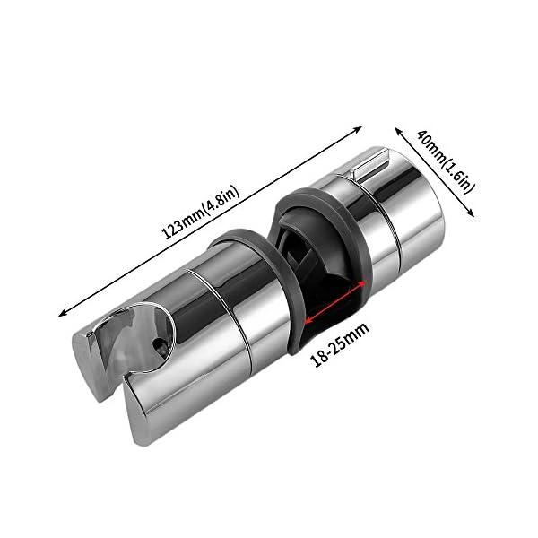 Soporte ducha BBLIKE Ajustable 18-25mm ABS Cabezal de ducha Deslizante Repuesto para cabezal Cursor Brazo de sujeción…