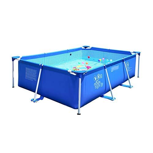 Cadre Piscine Grand Ménage Épaissi Piscine Support Piscine Extérieure Pliable Pataugeoire for Enfants (Color : Blue, Size : 260 * 155 * 65cm)