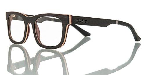 Barkey - Praga Vista lente de muestra - Gafas de madera de alta calidad - 100% hecho a mano - lentes de demostración no graduados