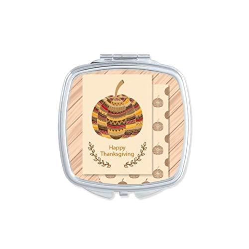 DIYthinker Happy Day Thanksgiving Turquie Motif carré Maquillage Compact Miroir de Poche Miroirs Mignon Petit Cadeau Portable à la Main Multicolor