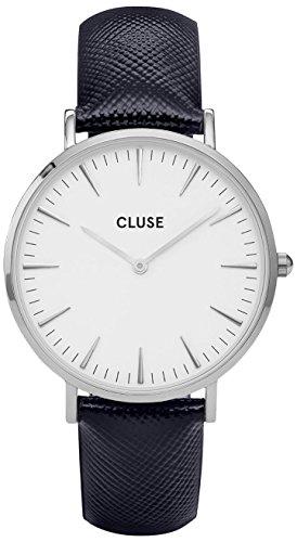 Cluse Unisex Erwachsene Digital Quarz Uhr mit Leder Armband CL18232