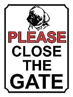ゲートを閉じてください壁の金属のポスターレトロなプラークの警告ブリキの看板ヴィンテージ鉄の絵画の装飾オフィスの寝室のリビングルームクラブのための面白い吊り工芸品