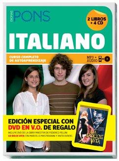 Curso Completo Pons Italiano (2 libros + 4 CD + DVD) (Pons- Curso Autoaprendizaje)