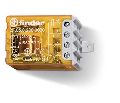Finder 270582300000 Serie 27 Relè ad Impulsi 10 A, Commutatore 4 Sequenze 2 NO, AC, 50/60Hz, Standard, 230 V, Morsetti a Bussola