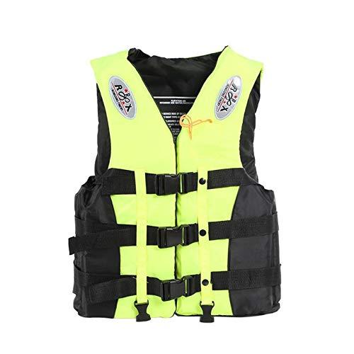 Chaleco Salvavidas Adulto, Chaleco de Ayuda a la Flotabilidad Unisex Adulto con certificación ISO y flotación cómoda Ayuda de la Nadada Sport Lifejacket (Color : Yellow, Size : XXL)