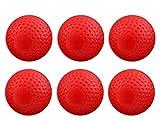 TASK EVA Hockey Cricket Ball for Practice (Red) - Pack of 6