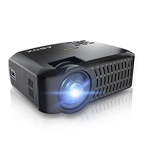 LED Video Mini Proyector Portátil A2, Proyector ABOX Resolución Nativa 1280*720p 3600 Lúmenes, Soporte 1080P Full HD, Compatible con HDMI/VGA/AV/USB/Tarjeta SD/Android/iOS, Negro