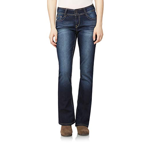 WallFlower Women's Instastretch Luscious Curvy Bootcut Jeans, Betsy, 9